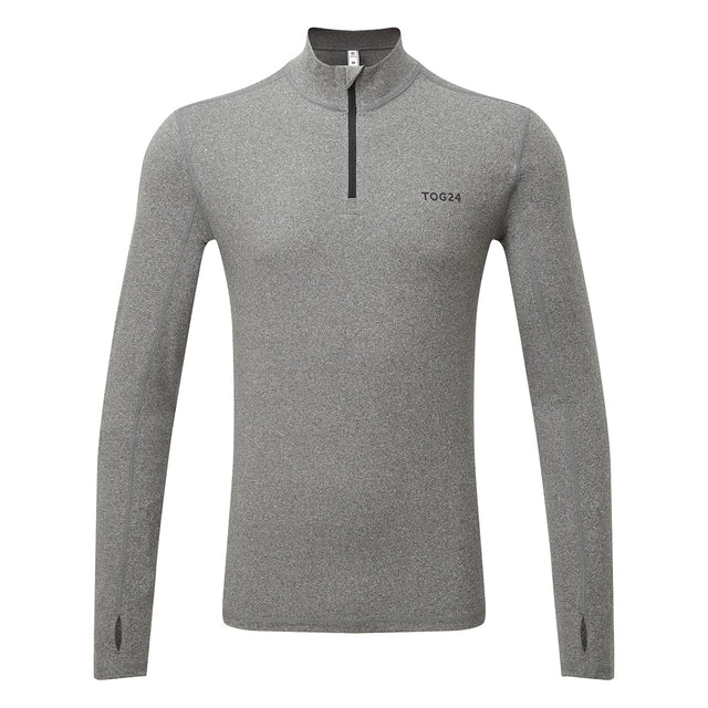 Snowdon Mens Thermal Zip Neck - Grey Marl image 3