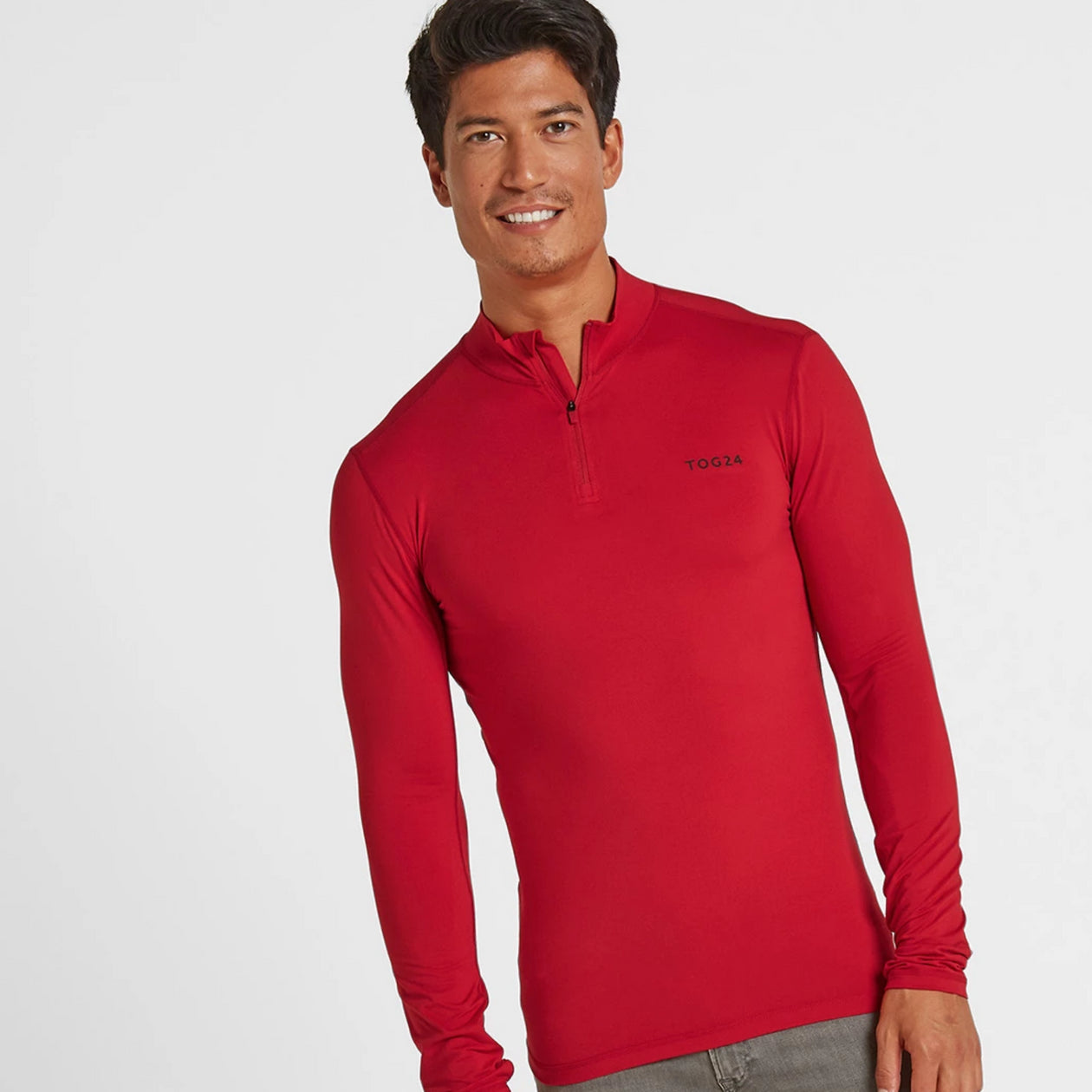 Snowdon Mens Thermal Zip Neck - Chilli Red image 4