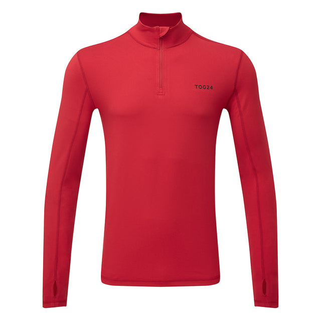Snowdon Mens Thermal Zip Neck - Chilli Red image 3