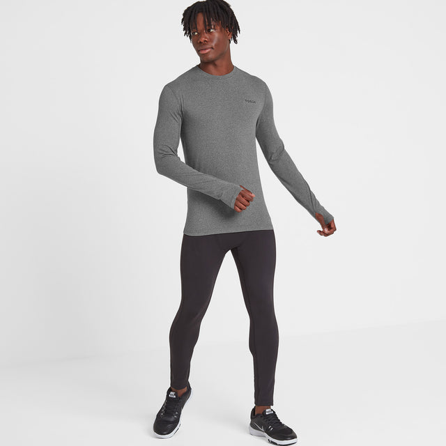 Snowdon Mens Thermal Crew Neck - Grey Marl image 2