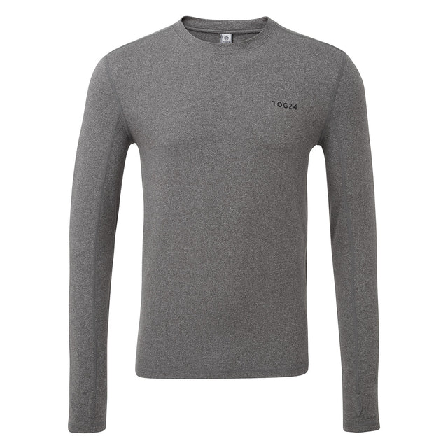 Snowdon Mens Thermal Crew Neck - Grey Marl image 3
