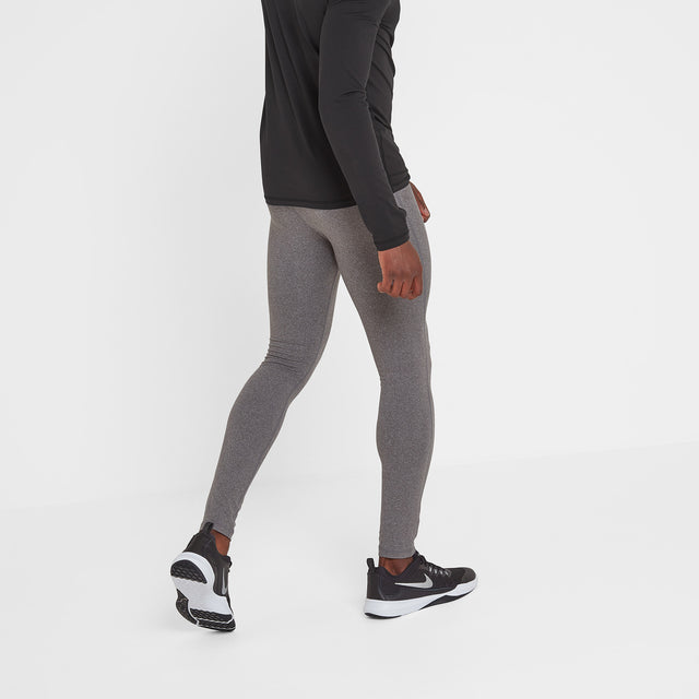 Snowdon Mens Thermal Leggings - Grey Marl image 1