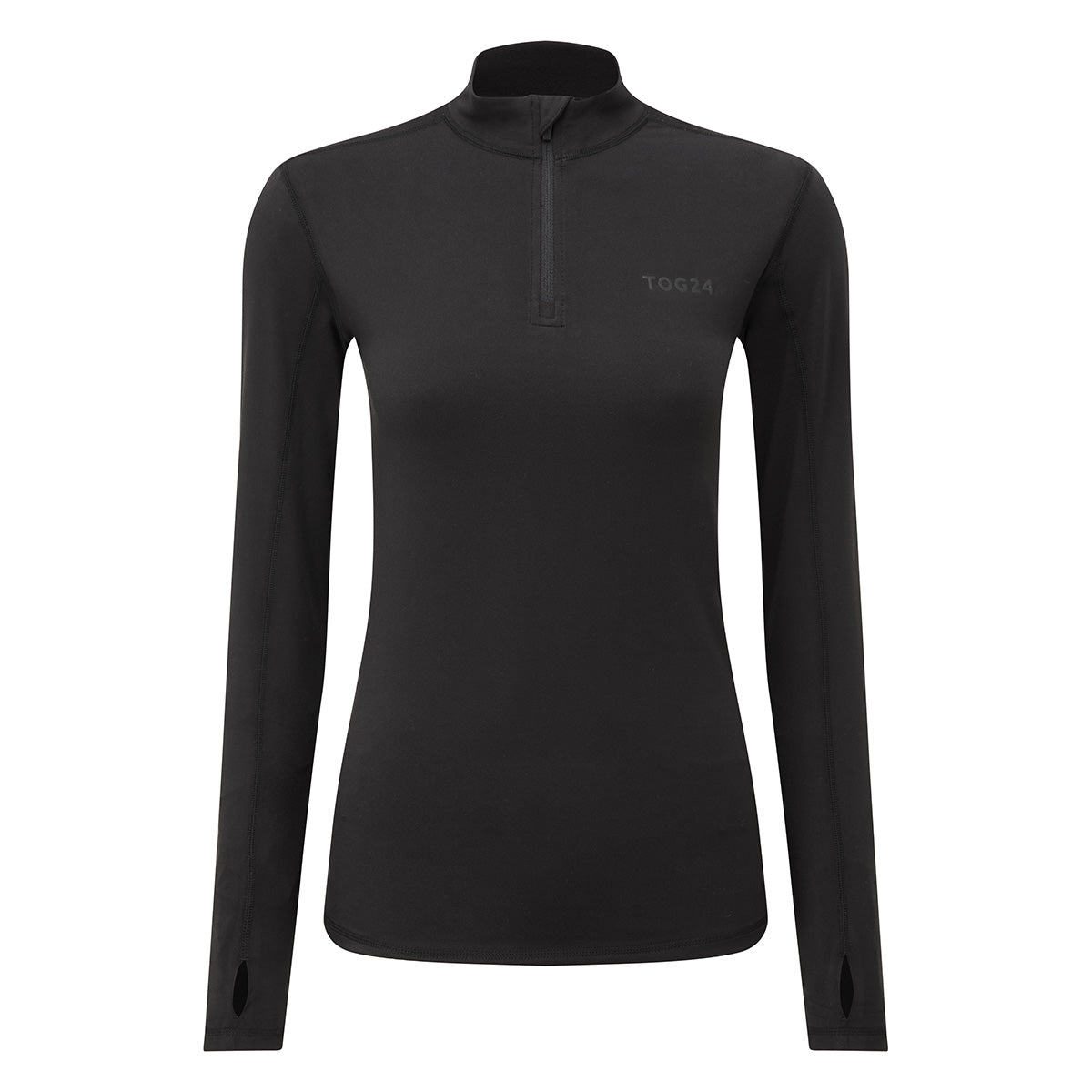 Snowdon Womens Thermal Zip Neck - Black image 4