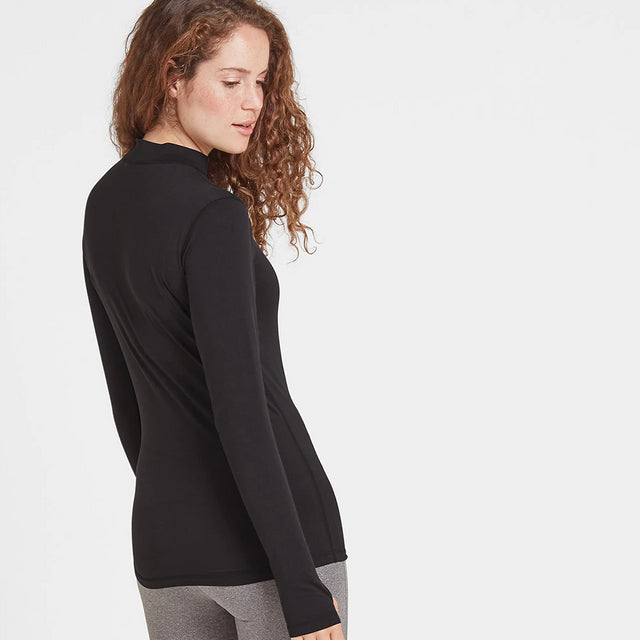 Snowdon Womens Thermal Zip Neck - Black image 3
