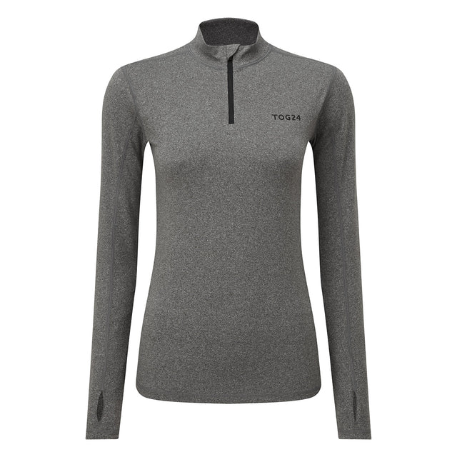 Snowdon Womens Thermal Zip Neck - Grey Marl image 3