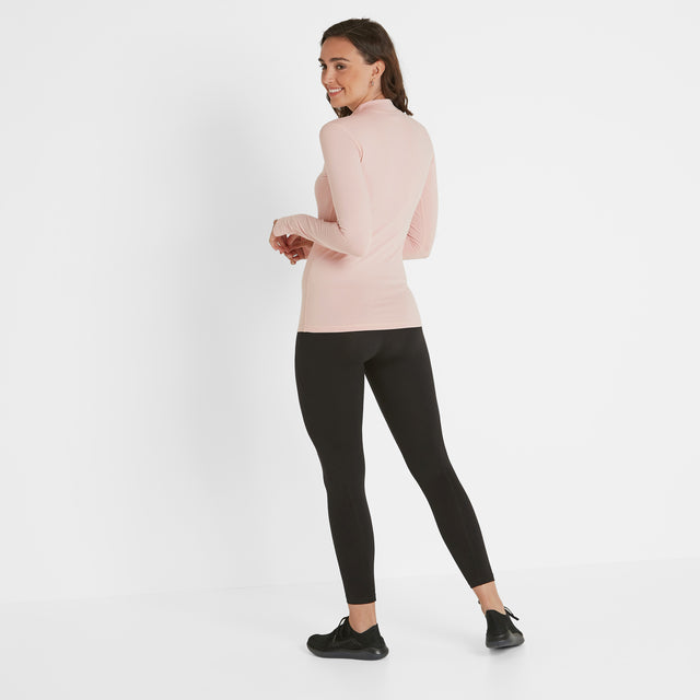 Snowdon Womens Thermal Zip Neck - Rose Pink image 2