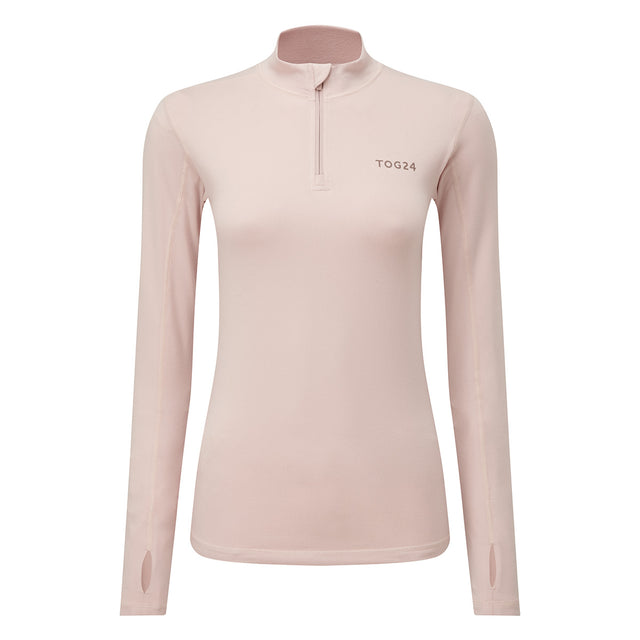 Snowdon Womens Thermal Zip Neck - Rose Pink image 3