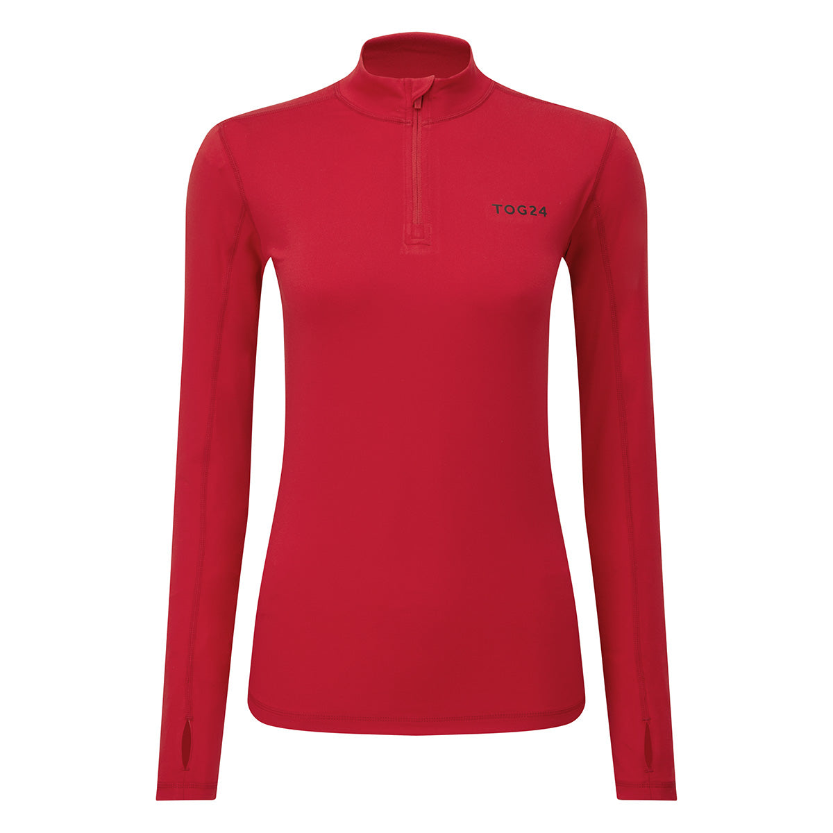Snowdon Womens Thermal Zip Neck - Rouge Red image 4