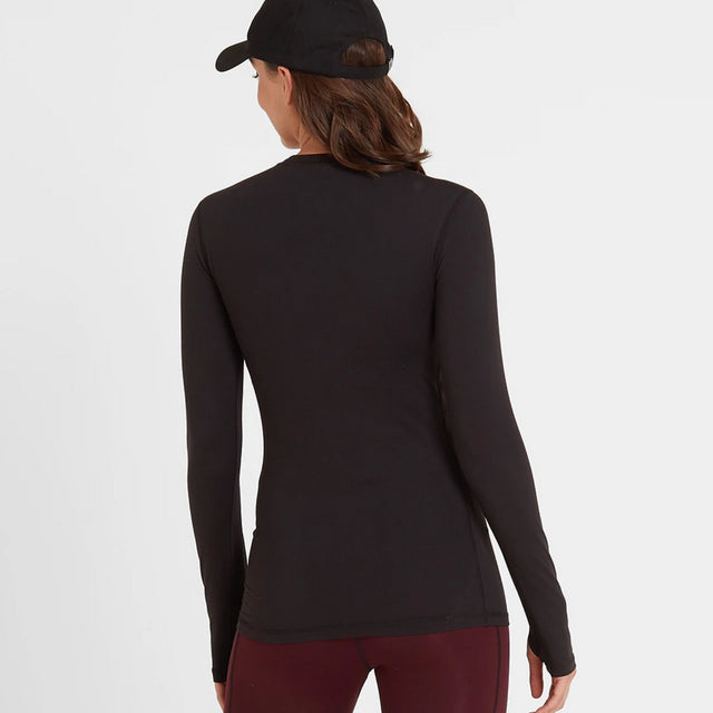 Snowdon Womens Thermal Crew Neck - Black image 2