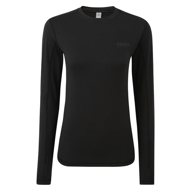 Snowdon Womens Thermal Crew Neck - Black image 3