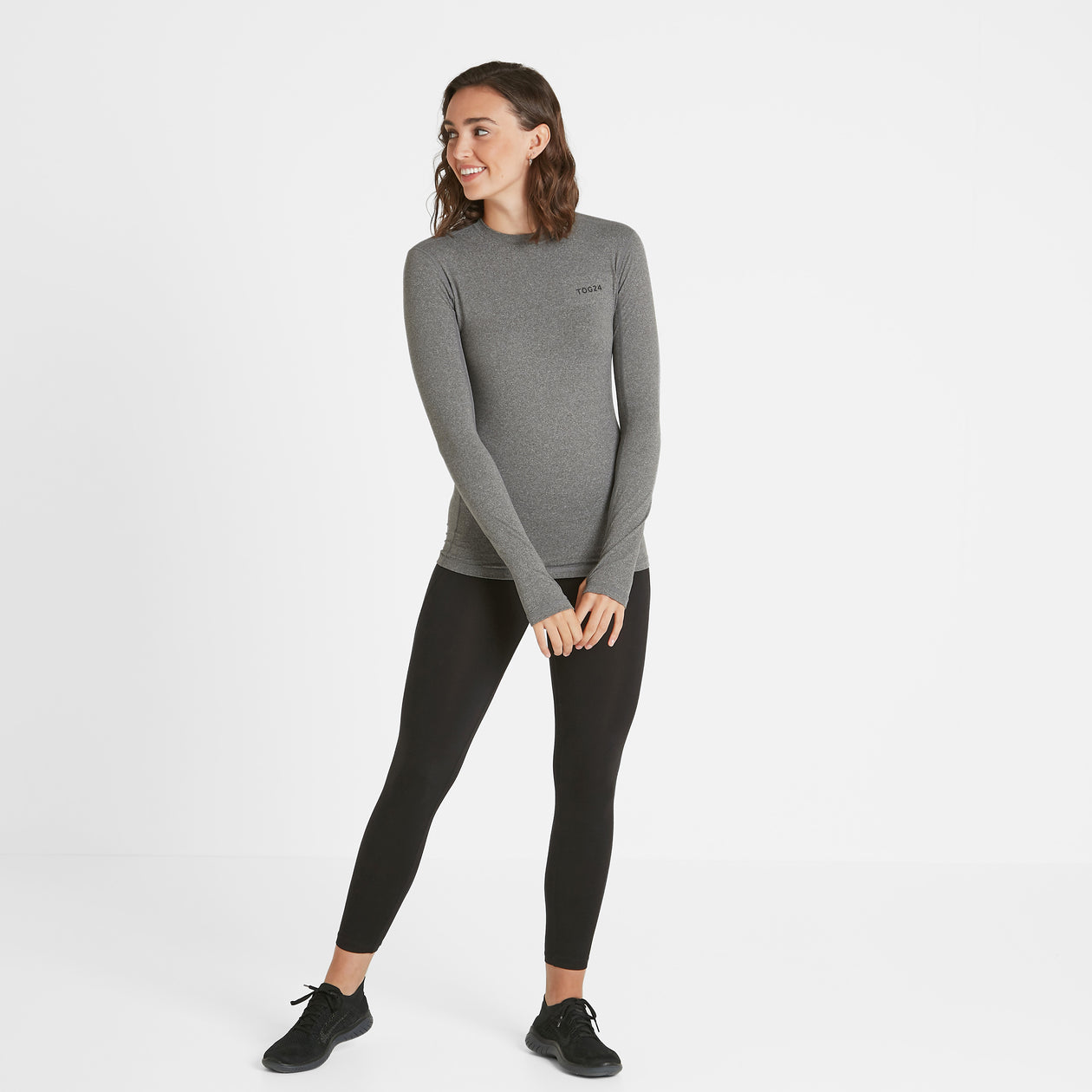 Snowdon Womens Thermal Crew Neck - Grey Marl image 4