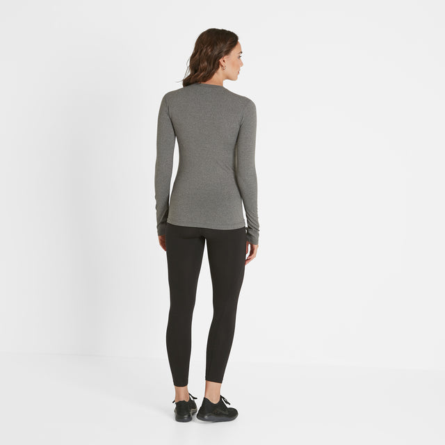 Snowdon Womens Thermal Crew Neck - Grey Marl image 2