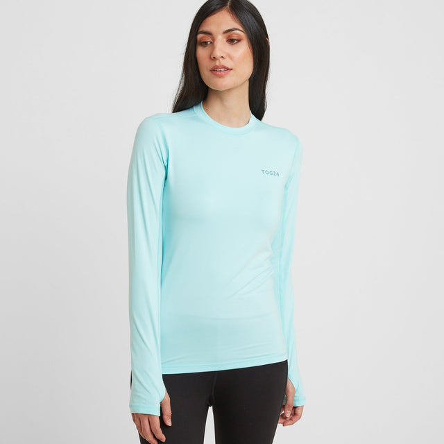 Snowdon Womens Thermal Crew Neck - Mint Blue image 1