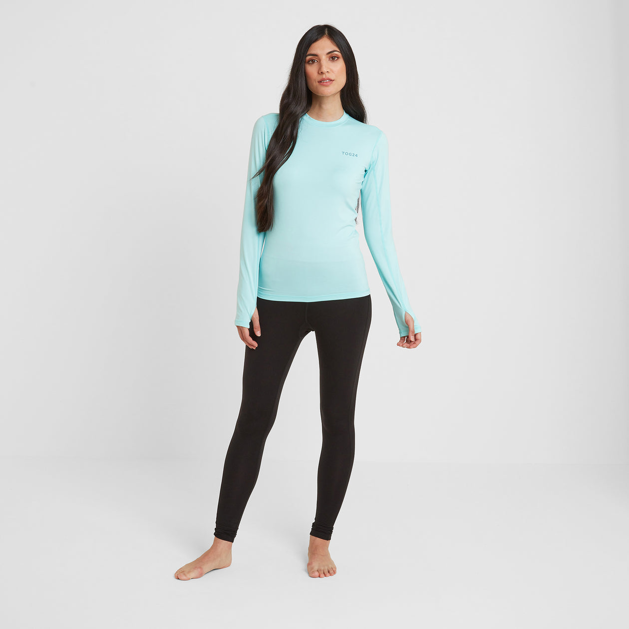 Snowdon Womens Thermal Crew Neck - Mint Blue image 4