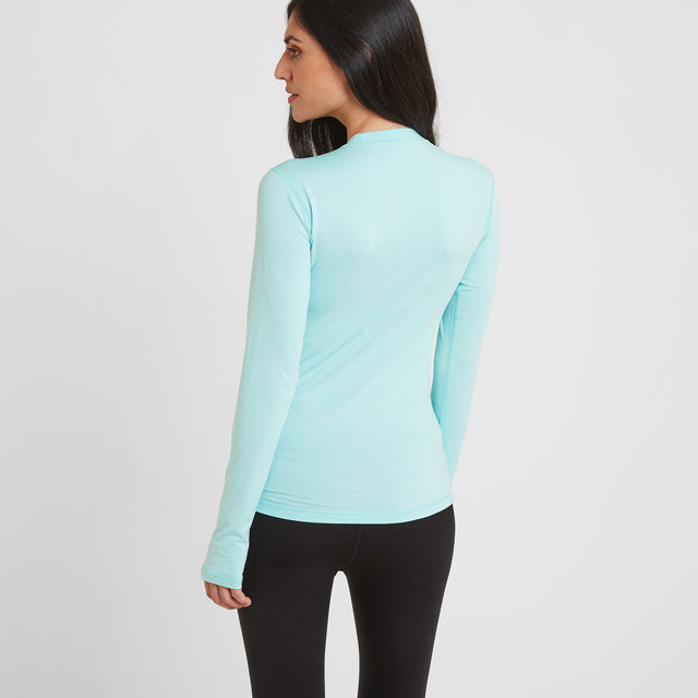 Snowdon Womens Thermal Crew Neck - Mint Blue image 2