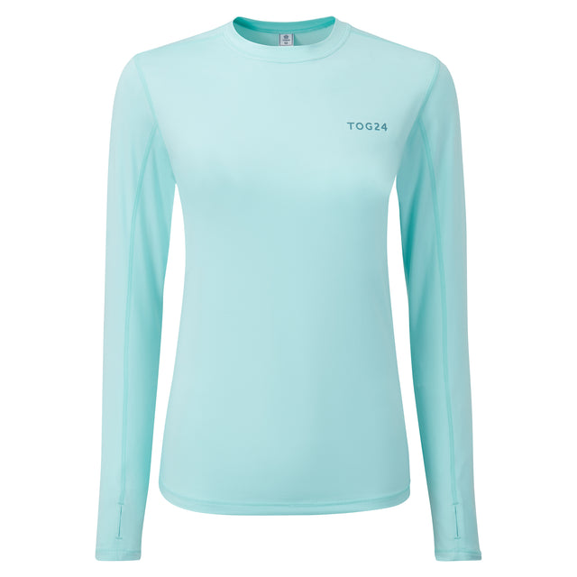 Snowdon Womens Thermal Crew Neck - Mint Blue image 3
