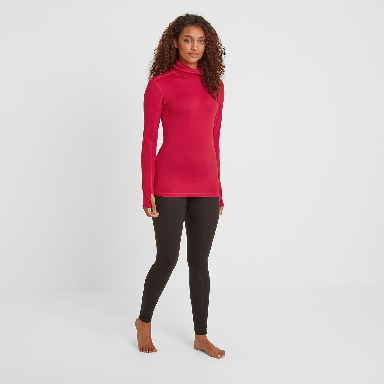 Snowdon Womens Thermal Roll Neck - Dark Pink image 4