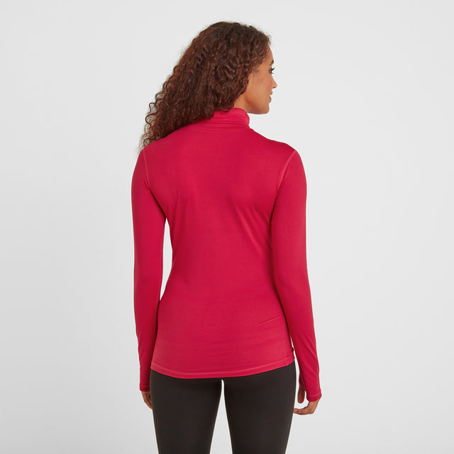 Snowdon Womens Thermal Roll Neck - Dark Pink image 2