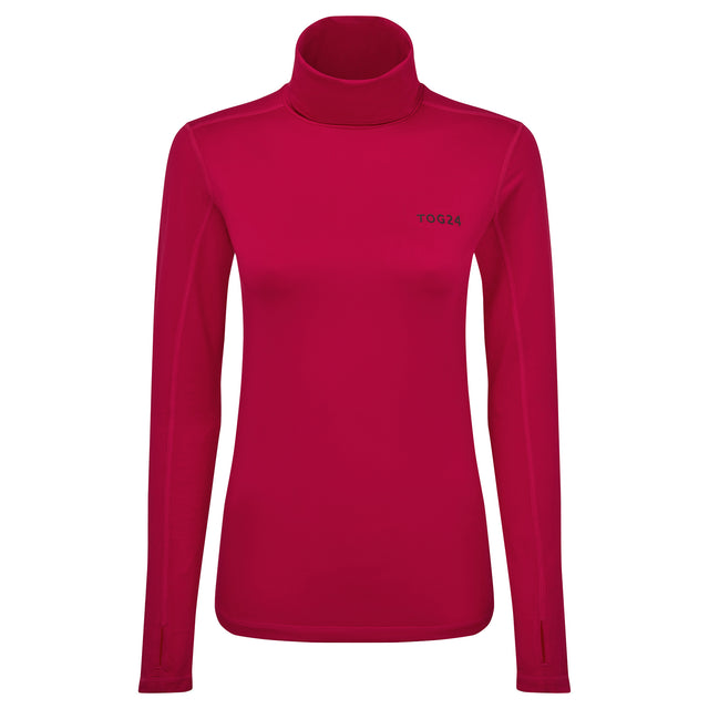 Snowdon Womens Thermal Roll Neck - Dark Pink image 3
