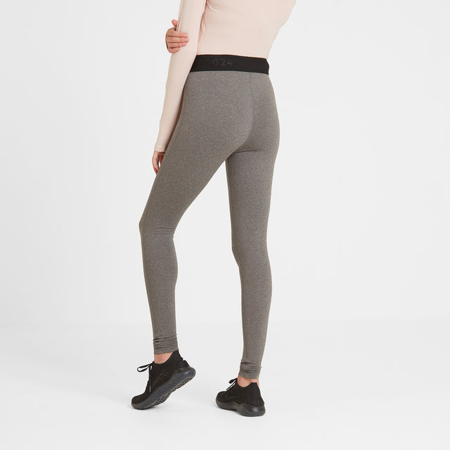 Snowdon Womens Thermal Legging - Grey Marl image 2