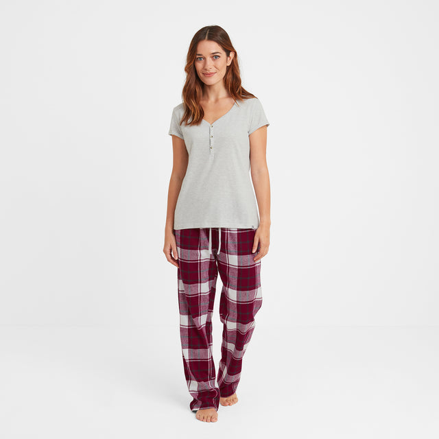 Snuggle Womens Pant Set - Raspberry image 2
