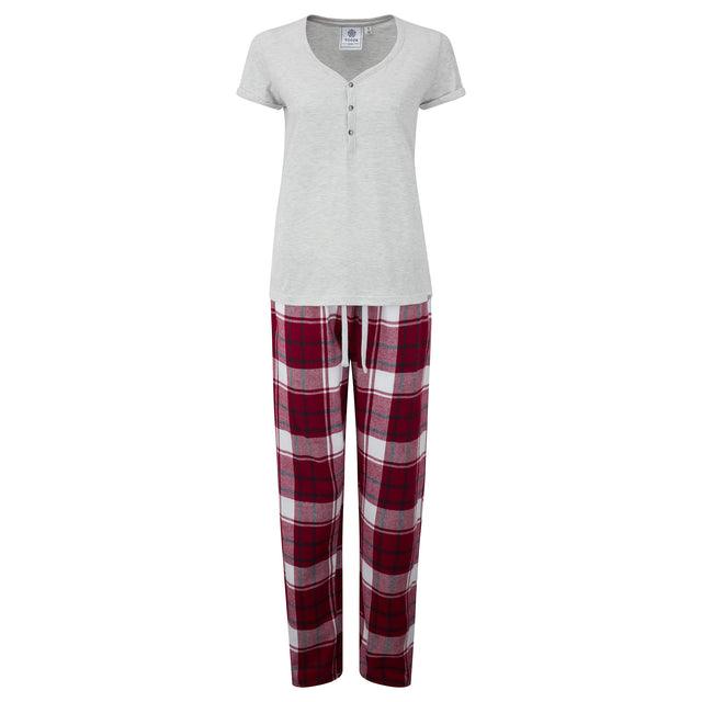 Snuggle Womens Pant Set - Raspberry