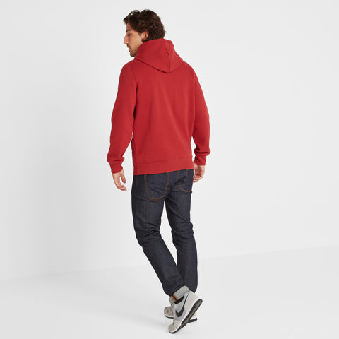 Sowerby Mens Hoody Tog Print - Chilli Red
