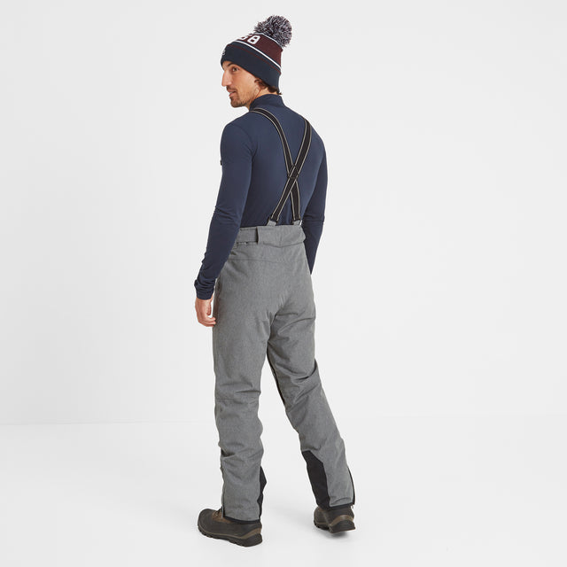 Spike Mens Waterproof Insulated Ski Pants - Grey Marl image 3