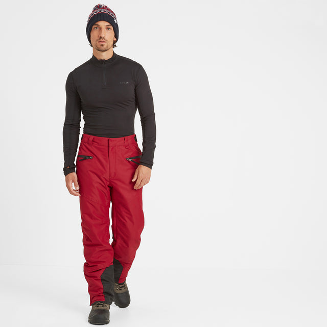 Spike Mens Waterproof Insulated Ski Pants - Chilli image 1
