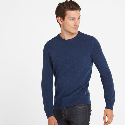 Stanley Mens Crew Neck Jumper - Navy Marl