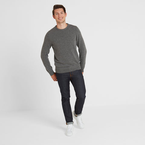 Stanley Mens Crew Neck Jumper - Light Grey Marl