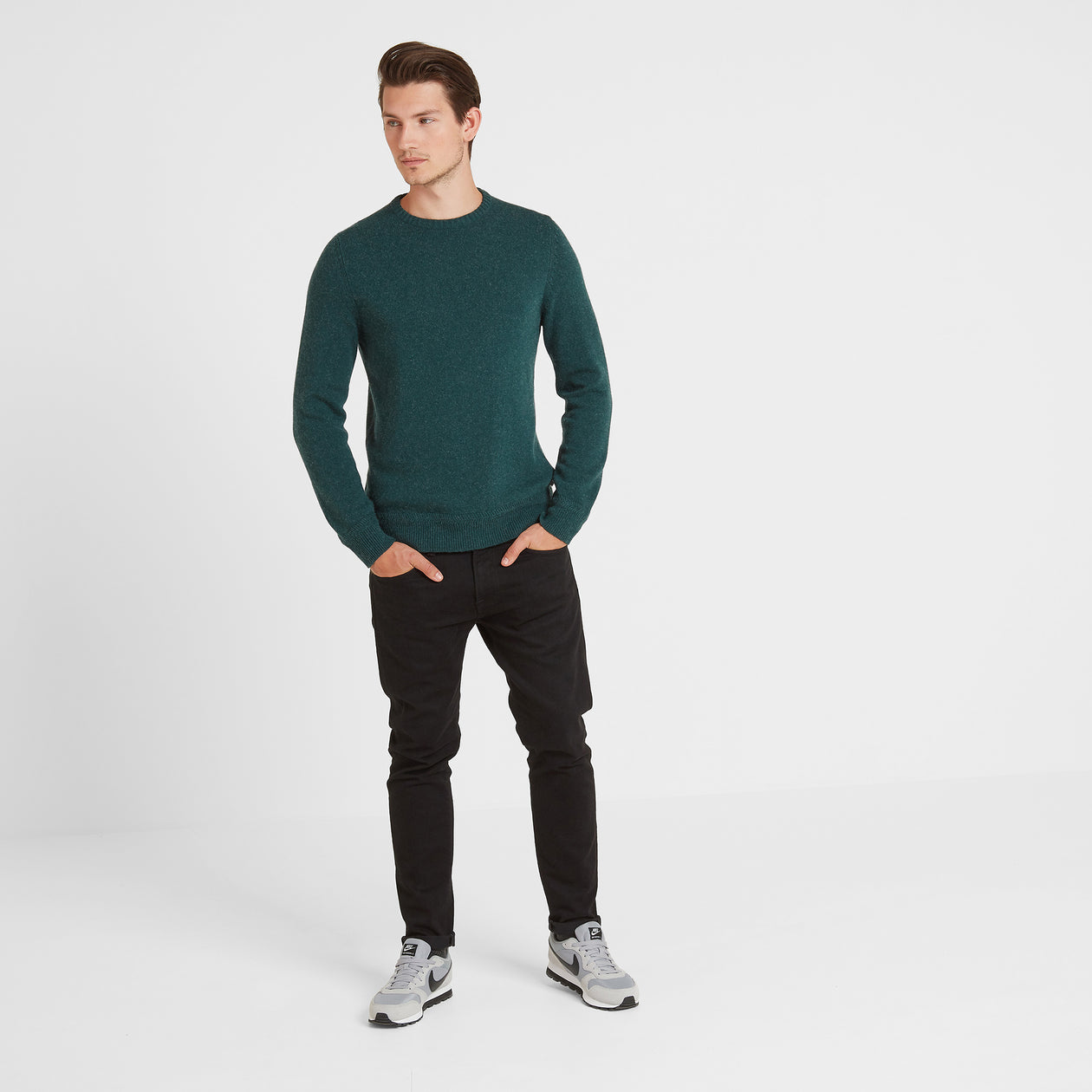 Stanley Mens Crew Neck Jumper - Forest Marl image 4