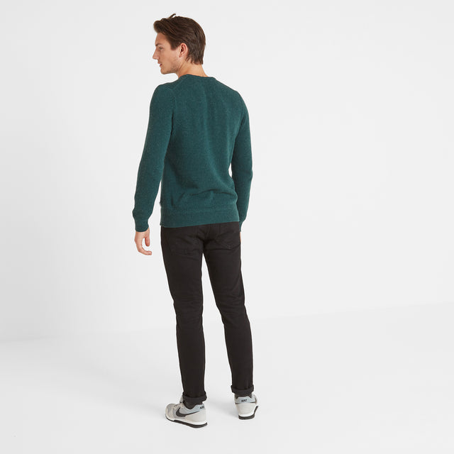 Stanley Mens Crew Neck Jumper - Forest Marl image 2