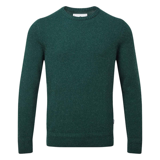 Stanley Mens Crew Neck Jumper - Forest Marl image 3