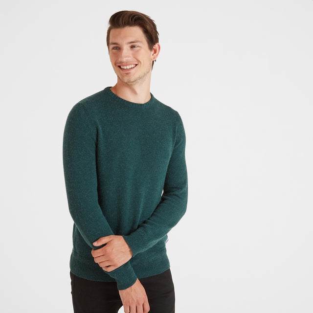 Stanley Mens Crew Neck Jumper - Forest Marl image 1
