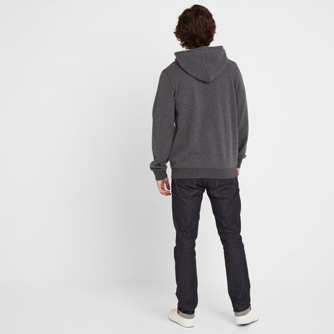 Stowgate Mens Hoody - Dark Grey Marl