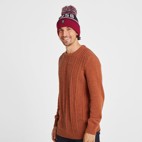 Tebworth Knit Hat - Chilli Red