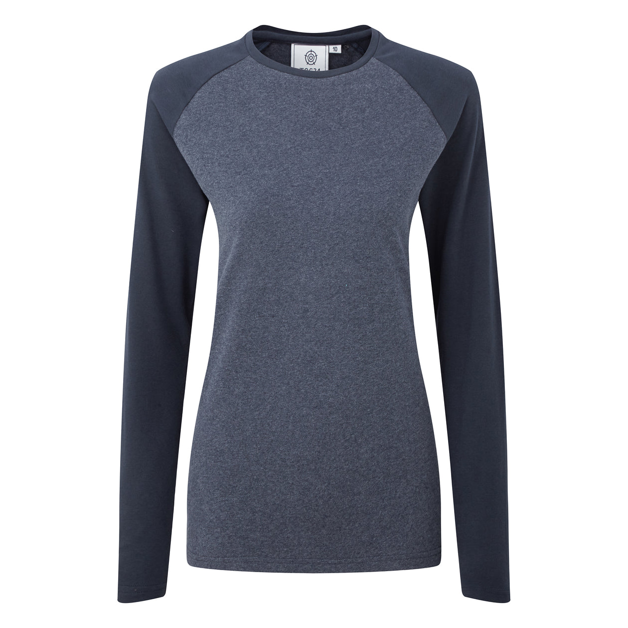 Thirn Womens Long Sleeve Raglan T-Shirt - Indigo Marl/Dark Indigo image 4