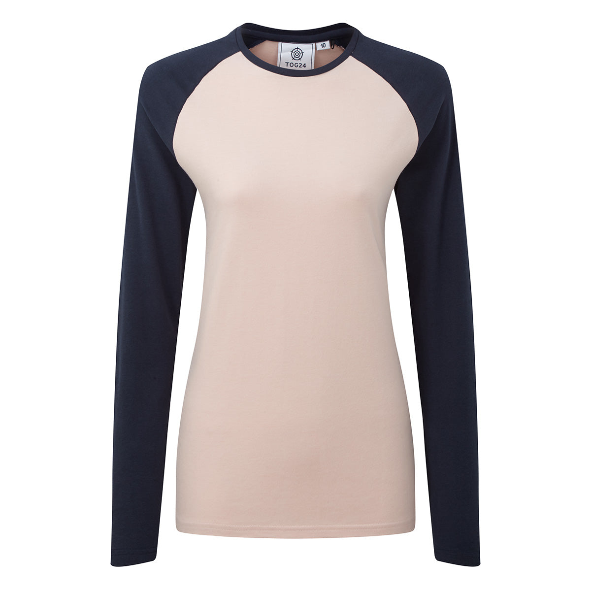 Thirn Womens Long Sleeve Raglan T-Shirt - Rose Marl/Dark Indigo image 4
