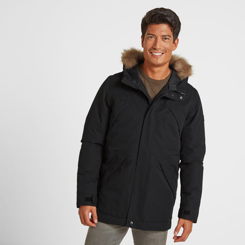 Thornton Mens Waterproof Downfill Parka - Black