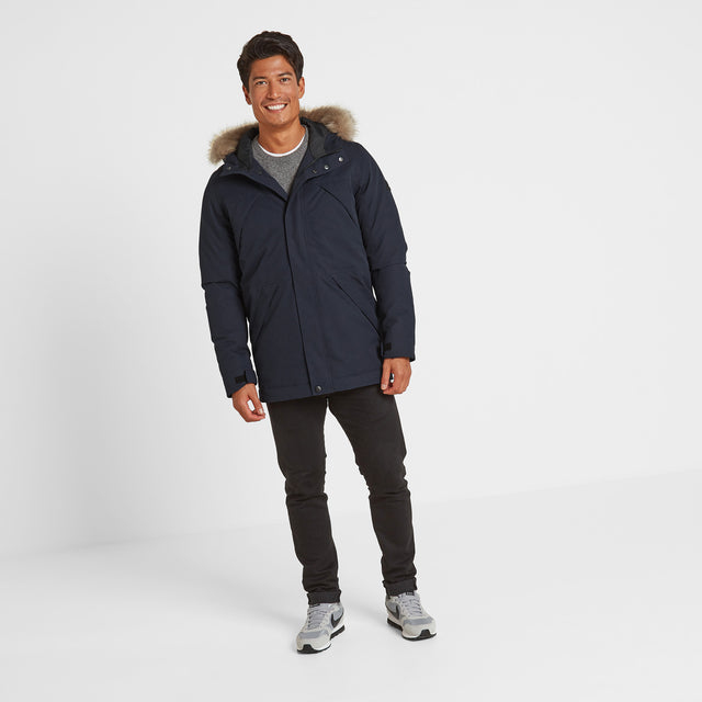 Thornton Mens Waterproof Downfill Parka - Navy image 1
