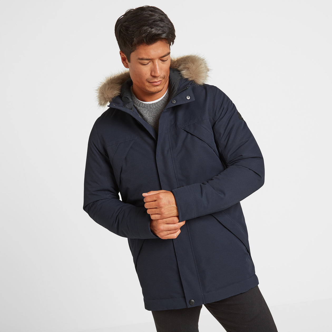 Thornton Mens Waterproof Downfill Parka - Navy image 4