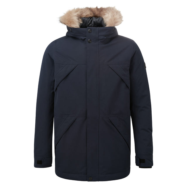 Thornton Mens Waterproof Downfill Parka - Navy image 6