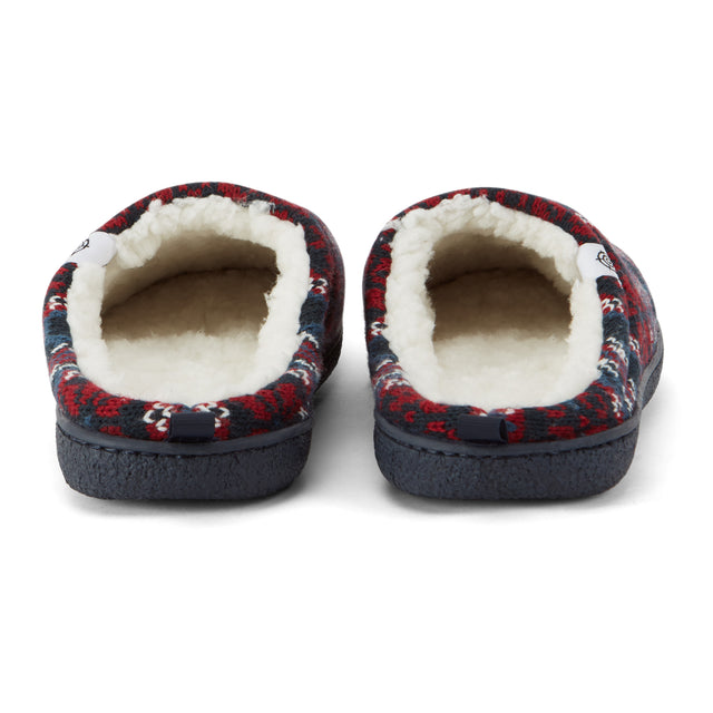Todwick Mens Knit Slipper - Chilli Red image 3