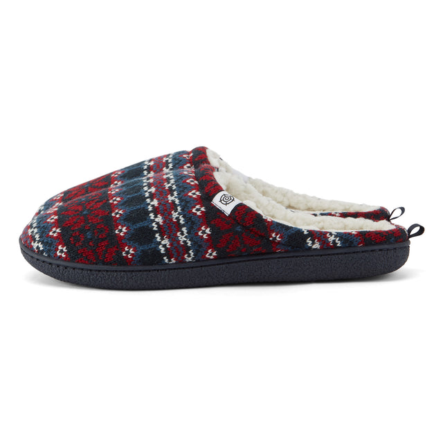 Todwick Mens Knit Slipper - Chilli Red image 5