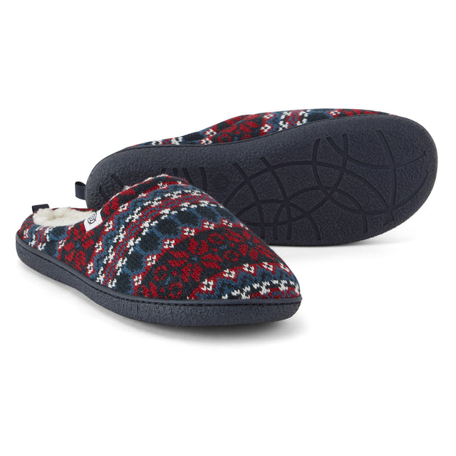 Todwick Mens Knit Slipper - Chilli Red image 1