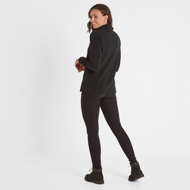 Treeton Womens Fleece Zipneck Black image 3