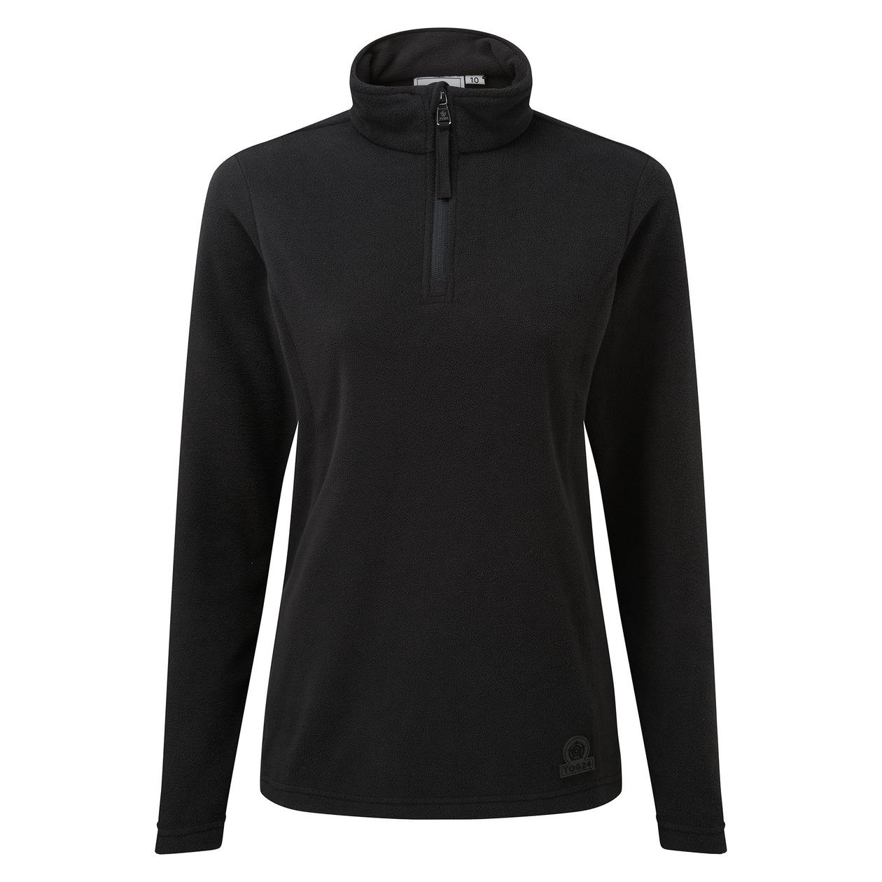 Treeton Womens Fleece Zipneck Black image 4