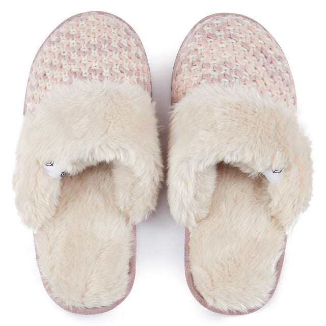 Tunnard Womens Knit Slipper - Rose Pink image 2