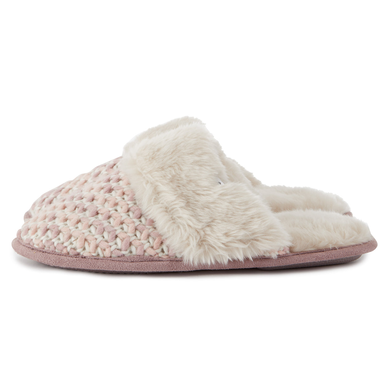 Tunnard Womens Knit Slipper - Rose Pink image 4